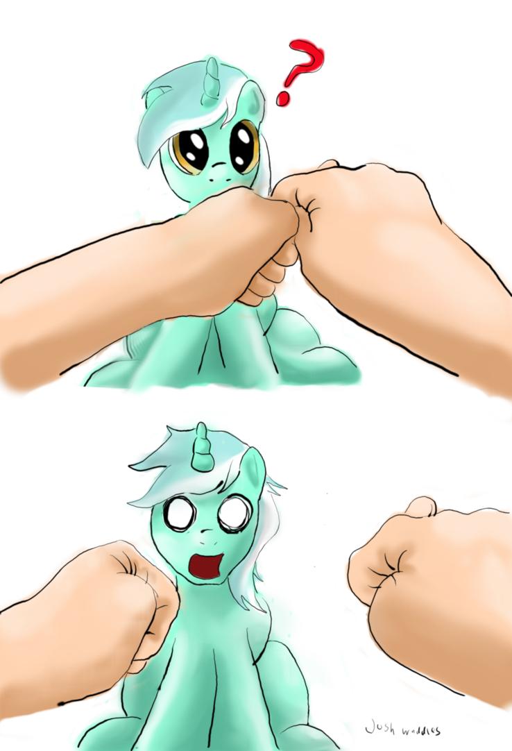 Lyra Heartstrings fan art My Little Pony hands human obsession human magic