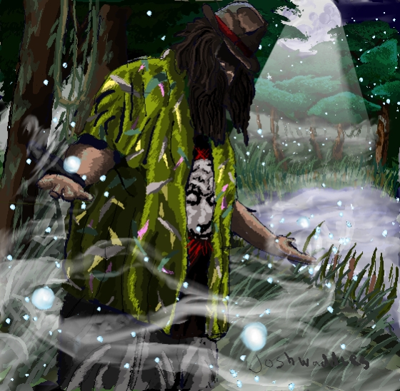 Bray Wyatt fan art WWE fireflies swamp