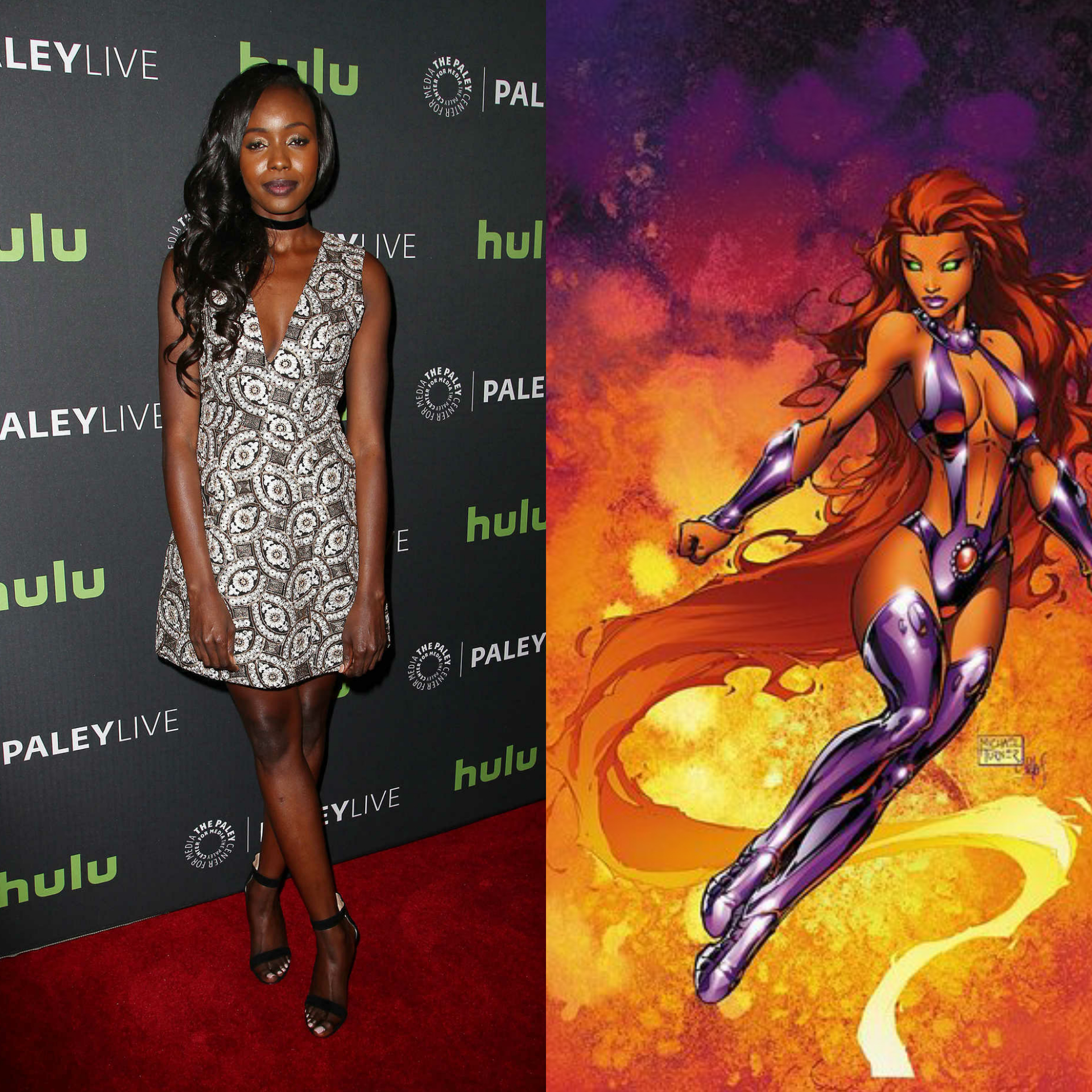 Anna Diop will play Starfire in Titans, the new live action DC Comics series on Warner Bros new streaming service